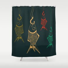 those are not fishes Shower Curtain