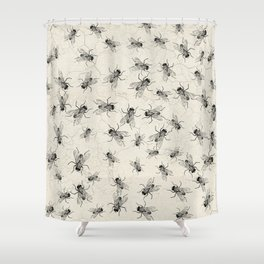 House Fly chaos Shower Curtain
