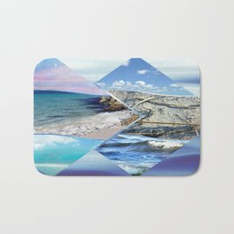 Sea, Sand and Sky Collage Bath Mat