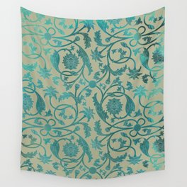 Blue Lotus Pattern Wall Tapestry