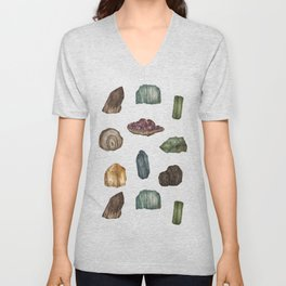 Gems and Minerals Unisex V-Neck