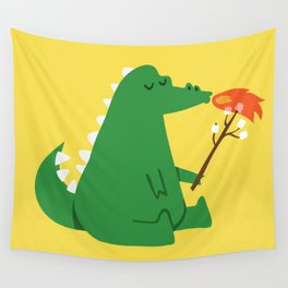 Dragon and Marshmallow Wall Tapestry