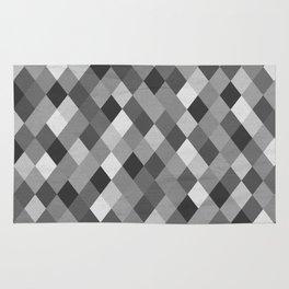 Black and White Harlequin Rug