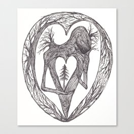 Sacred Pine Grove Of The Heart Canvas Print