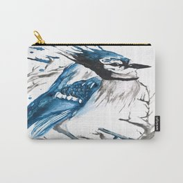 True Blue Jay Carry-All Pouch