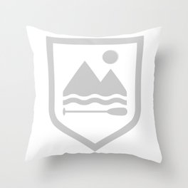 Under The Eclipse - Grey Throw Pillow