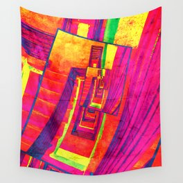 Pop Art Stairwell Abstract Wall Tapestry