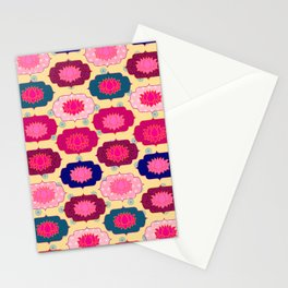 Lotus pattern Stationery Cards
