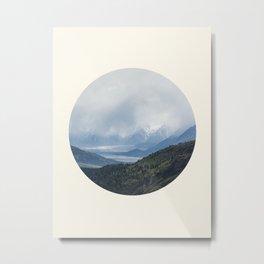 Mountain Valley Lake Metal Print