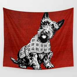 Vintage Scottish terrier Wall Tapestry