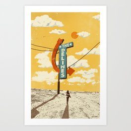 THE DELINES - Official Merch Poster Art Print