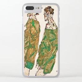 Egon Schiele - Devotion Clear iPhone Case