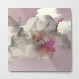 Pink Cloud Dragon Metal Print