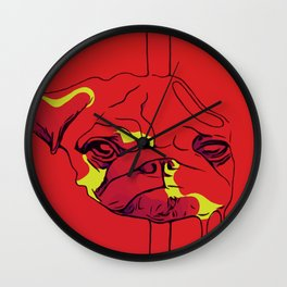 Pugsicle (Special neon edition) Wall Clock