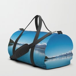 Blue line landscape Duffle Bag