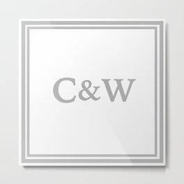 name pillow Metal Print