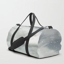 Snowing Winter Scene Illustration #decor #society6 Duffle Bag