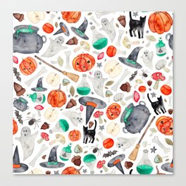 Halloween Pattern Canvas Print