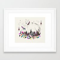 kris tate Framed Art Prints featuring TENDER MOUNTAIN  |  by Kristy Lynn + Kris Tate by Kristy Lynn