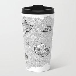 Dotted Floral Travel Mug