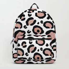Pink Glitter Leopard Print Backpack