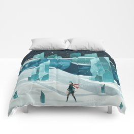 The wanderer and the ice forest Comforters