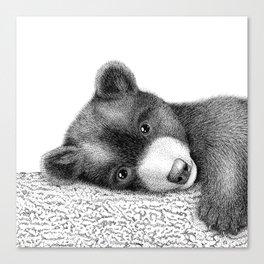 Sleepy bear Canvas Print