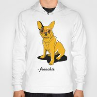 frenchie Hoodies featuring Frenchie by andiroses
