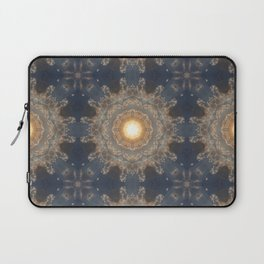 Blue yellow mandala Laptop Sleeve
