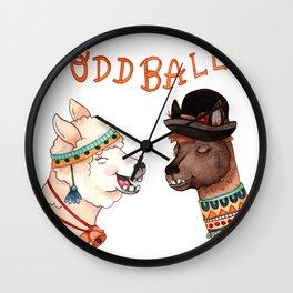 Oddball Llamas Wall Clock