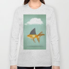 Goldfish with a Shark Fin (under a cloud) Long Sleeve T-shirt