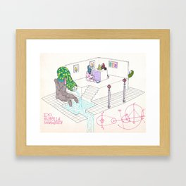 Draining a cyst at the crystal spire convalescent home Framed Art Print