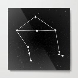 LIBRA (BLACK & WHITE) Metal Print