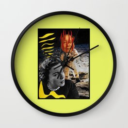 The Man Who Came Back From The Moon Is Not My Husband Wall Clock