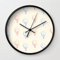 ballon Wall Clocks featuring BALLON by JeremyG