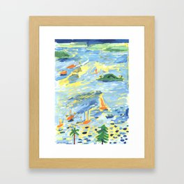 A Lovely Day on the Bay Framed Art Print