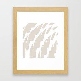Neutral Abstract Brush Marks Framed Art Print