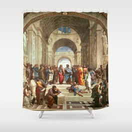 School Of Athens Painting Shower Curtain