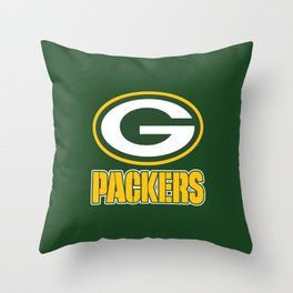 green packers Throw Pillow