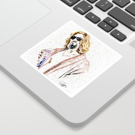 The Dude Abides Sticker