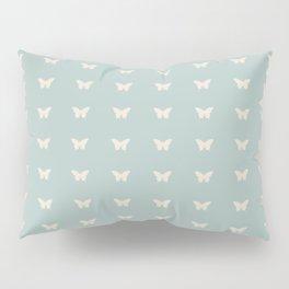 Minimal Butterfly Pattern - Sage Pillow Sham