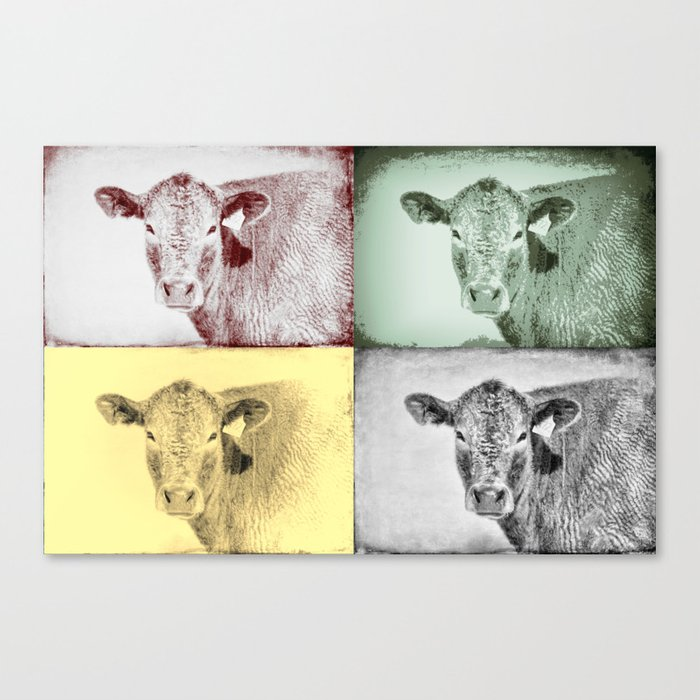 Here's Looking at Moo Canvas Print