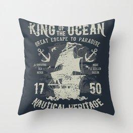 King of the Ocean Throw Pillow