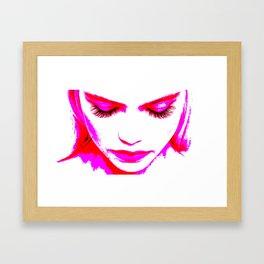 Pink Girl (transparent) Framed Art Print