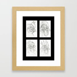 Chickens 2 Framed Art Print