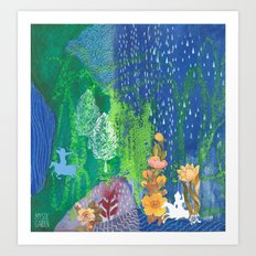 Moonrise Garden No1 Art Print