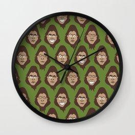 Bigfoot Sasquatch Class Photos Wall Clock