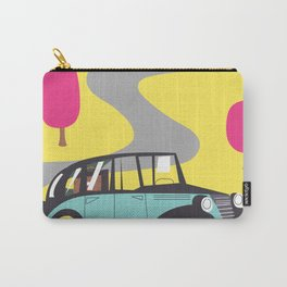 vintage car cartoon Carry-All Pouch