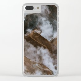 Kerlingjarfjöll smoky Mountains in Iceland - Landscape Photography Clear iPhone Case