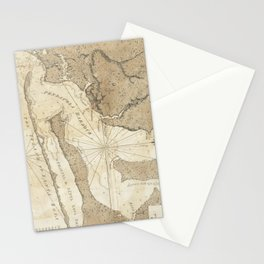 Vintage Map of Pensacola Florida (1780) Stationery Cards